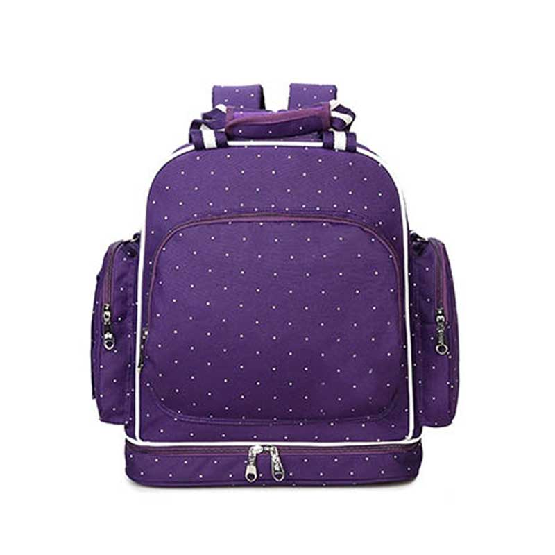 chic luxury fashionable extra large purple diaper bags