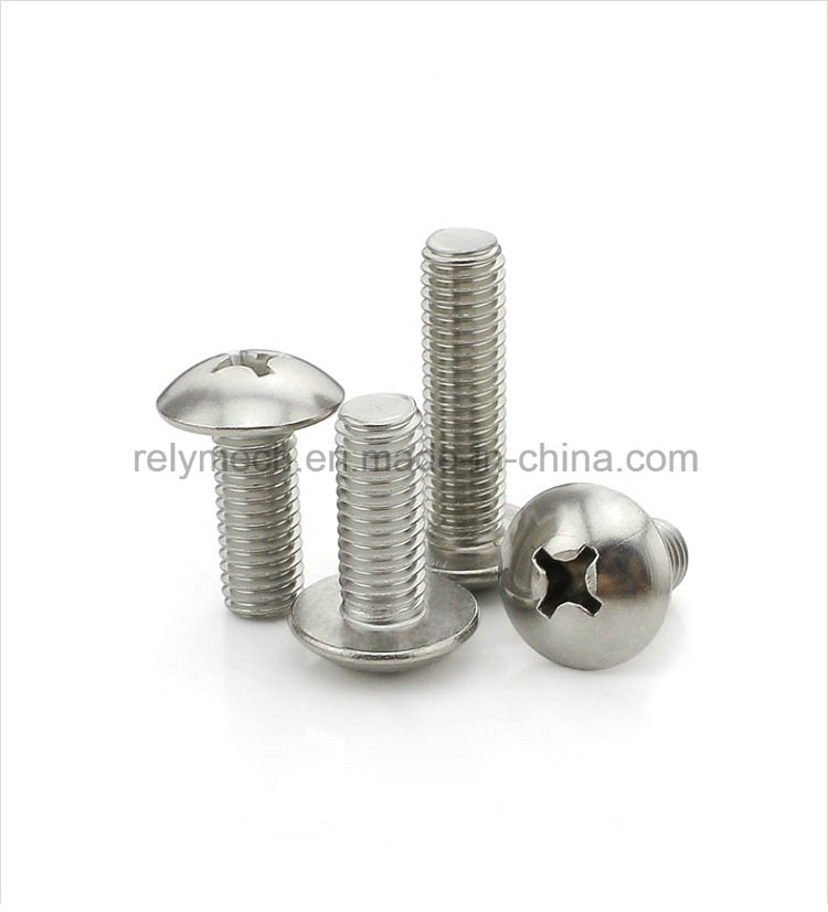Fastener Stainless Steel Round Head Screw/ Cross Machine Screw M3-M4