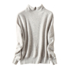 2019 ladies 100%cashmere sweater knitted half collar jumpers sweater