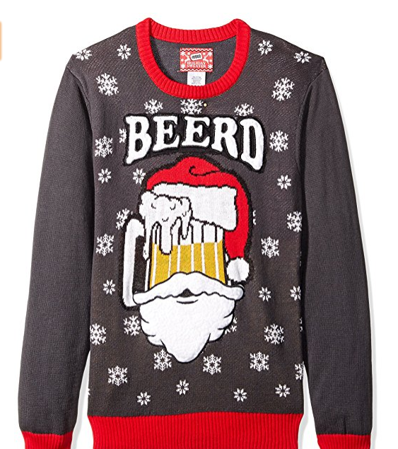 PK1821HX Men's Beerd Ugly Christmas Sweater