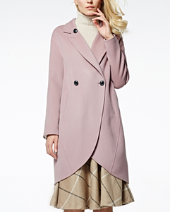 17PKCSC003 women double layer 100% cashmere wool coat