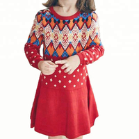 2054eb241c Wholesale Girls Autumn Winter Knitted Cotton Cashmere Smart Long Sleeve  Christmas Knitted Dress