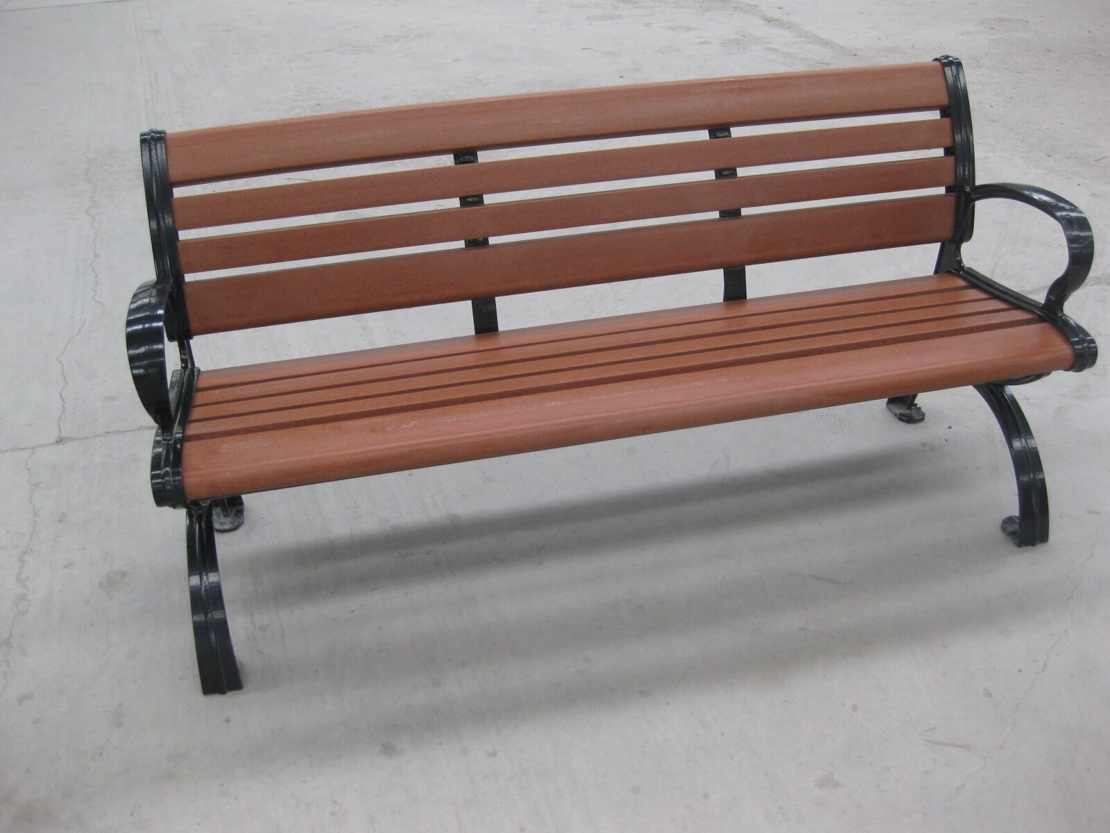 outdoor bench Red brown color