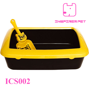 Square cat litter box with the scoop