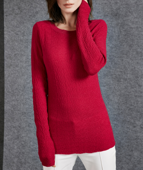 17PKCS508 2017 knit wool cashmere knitted lady sweater