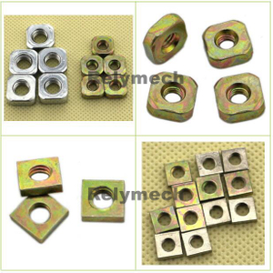 Carbon Steel Zinc Plated Square Nut with Angle/Chamfersquare Nut--- Carbon Steel with Zinc Plated
