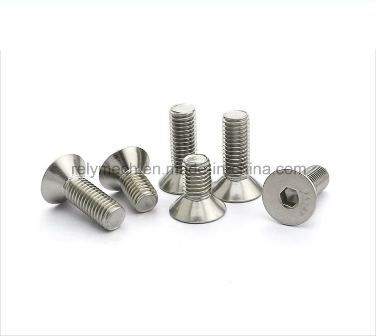 Stainless Steel Countersunk Hex Socket Flat Head Machine Screw M3-M10