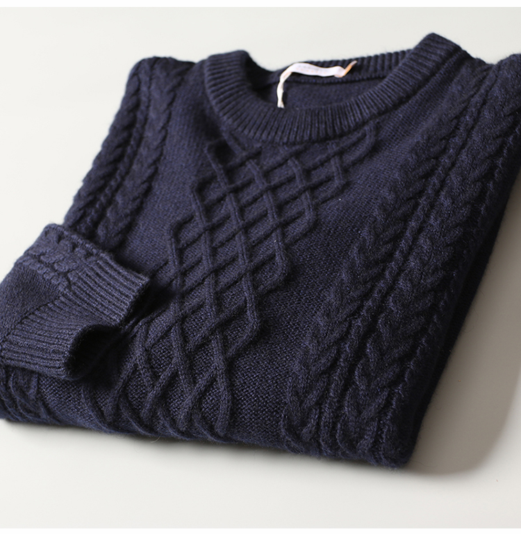 P18B06TR cotton cashmere knitted sweater for men