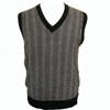 P18B076BE men winter warm cashmere V neck striped design fashion outfit knitted vest