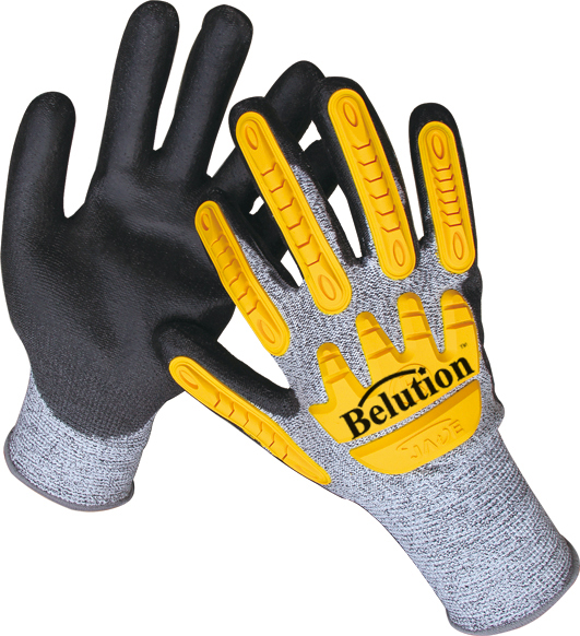 TPR NITRILE SANDY FINISH CUT RESISTANCE GLOVES