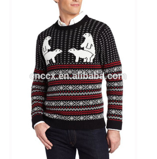 15CSU003 2017 Men acrylic knit winter thick ugly christmas sweater