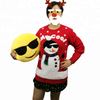 Women style holiday lovely pom pom christmas sweater