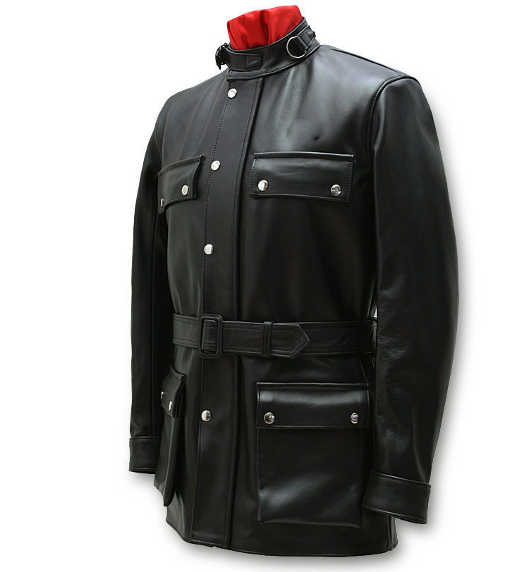 P18E0014BW up to date hot sale real leather custom jacket for men all seasons custom