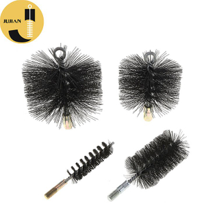 C01 Black Card Wire Round Chimney Sweep Brush