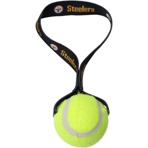 Tennis Ball on Strap Dog Toy