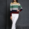 17PKCS519 2017 knit wool cashmere knitted lady sweater