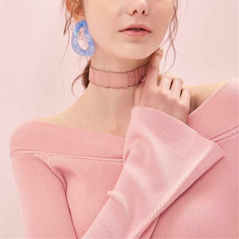 P18B164CH V neck women loose fit long bell sleeve cashmere sweater pullover top