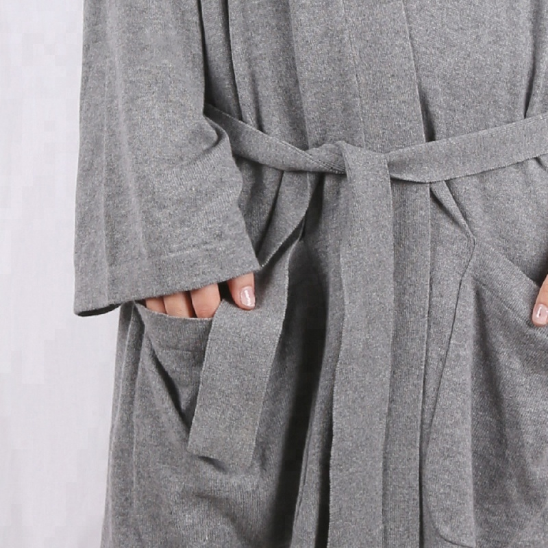 drop shipping long bathrobe gown cashmere robe