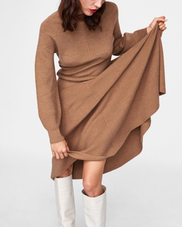 2019SS 2 piece sweater set wool cashmere knit dress long skirt