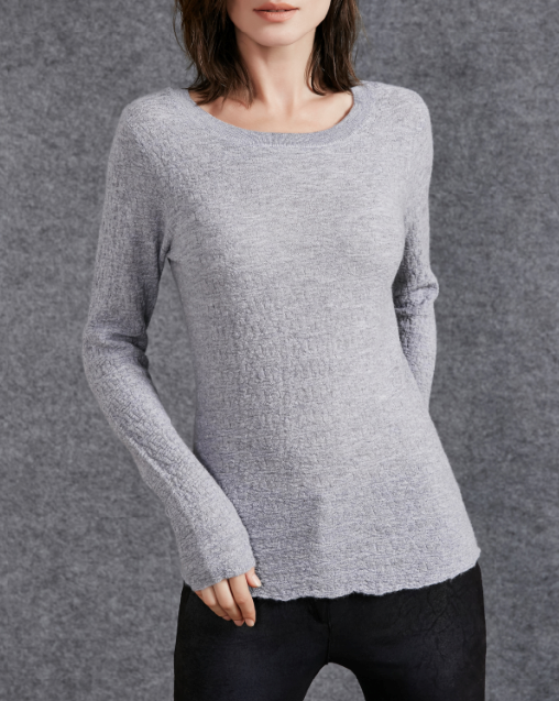 17PKCS509 2017 knit wool cashmere knitted lady sweater