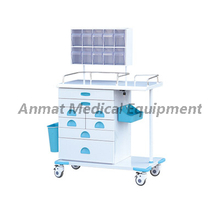 Movable with 8 drawers for patient anesthesia trolley suppliers