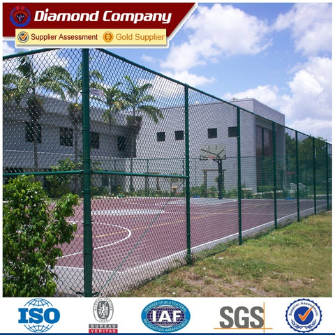 playground basketball field fencing