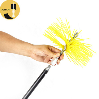 C03 Round Yellow Chimney Sweep PP Nylon Brushes