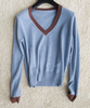 PK17ST436 V Neck Line Latest Design Cashmere Pullover Sweater for Lady