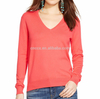 15PKSW33 Flat knitted 100% cotton cashmere sweater knit sweater for women