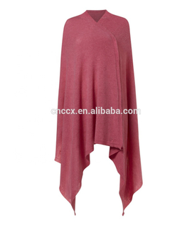 Woman cashmere knitted poncho warm soft travel knitted wrap