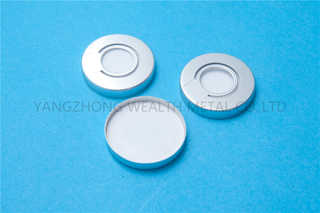 Aluminum cap for milk bottle