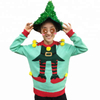 Unisex adults OEM polyester or acrylic pom pom balls ugly christmas jumper sweater