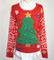 16JW53113 festival tree polyester christmas sweater