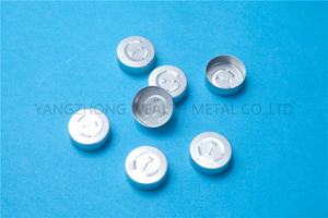 20mm Aluminum tear off cap with arrow