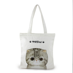 Cute Cat printed Organic Cotton Tote Bag