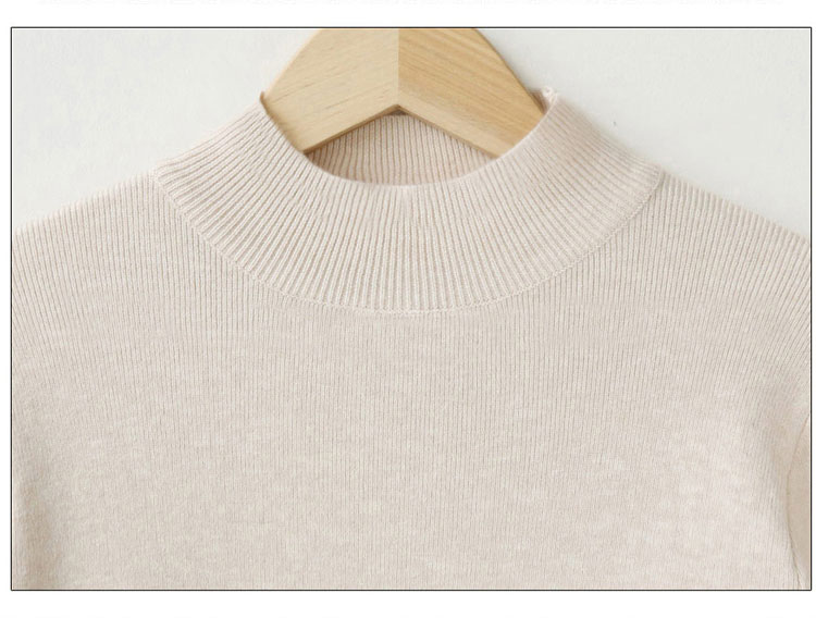 2019SS ladies 100%cashmere sweater knitted half collar jumpers sweater