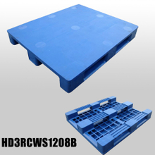 1200*800*150 mm plastic pallets with 3 runners and closed deck