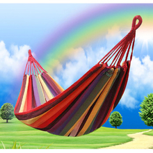 China Wholesale Outdoor Leisure Cotton Camping Hammock For Climber