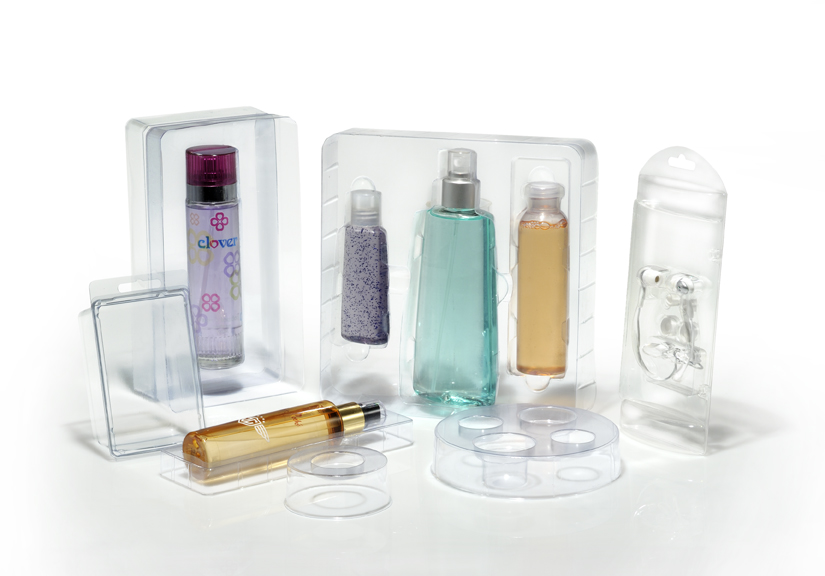 cosmetic packaging tray