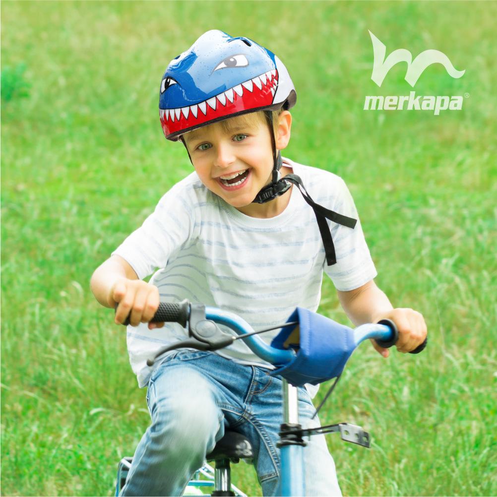 Merkapa Kids Bike Helmet Adjustable 3D Shark Bicycle Helmets