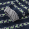P18B029BE kids winter knitted cotton cashmere striped jacquard design long sleeve pullover sweater