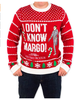 PK1877HX Unisex Ugly Christmas Sweater in Red I Don't Know Margo