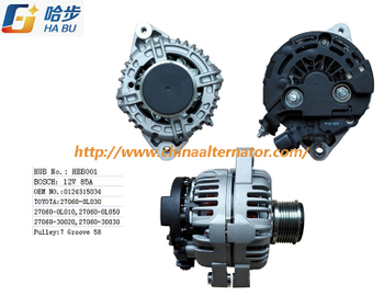 Alternator for Toyota Bosch 12V85A 0124315034, 27060-0L030 HBB001