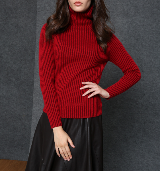 17PKCS536 2017 knit wool cashmere knitted lady sweater