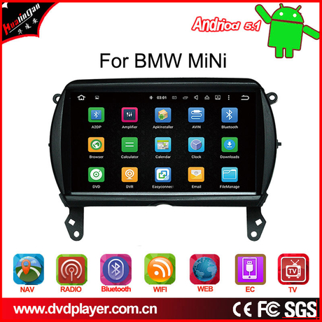 carplay bmw Mini car android 7.1 3g internet gps navigatior car videos Anti-Glare
