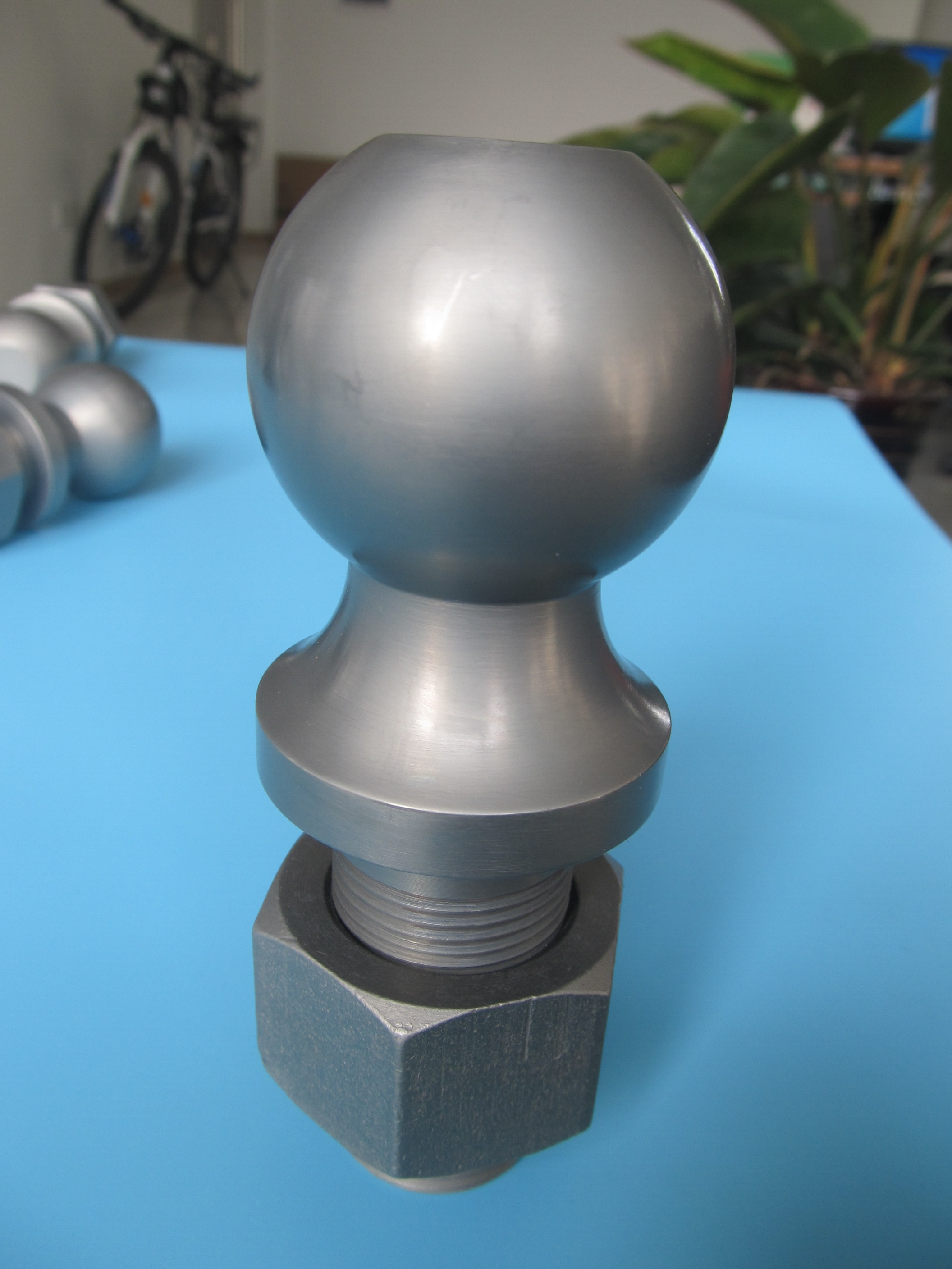 Trailer ball ,hitch ball ,trailer coupler sample manufactured by Qingdao Haozhifeng Machinery Co.,Ltd