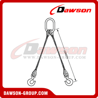WS82-TTH Tapered Eye Splice Wire Rope Slings