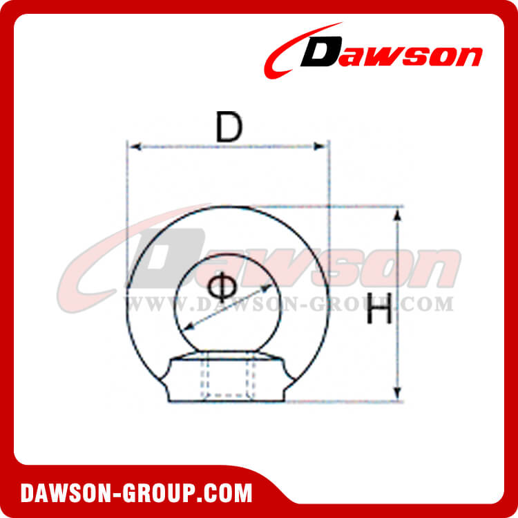 GALVANIZED EYE NUTS DIN582 LIFTING RING NUT DAWSON-GROUP