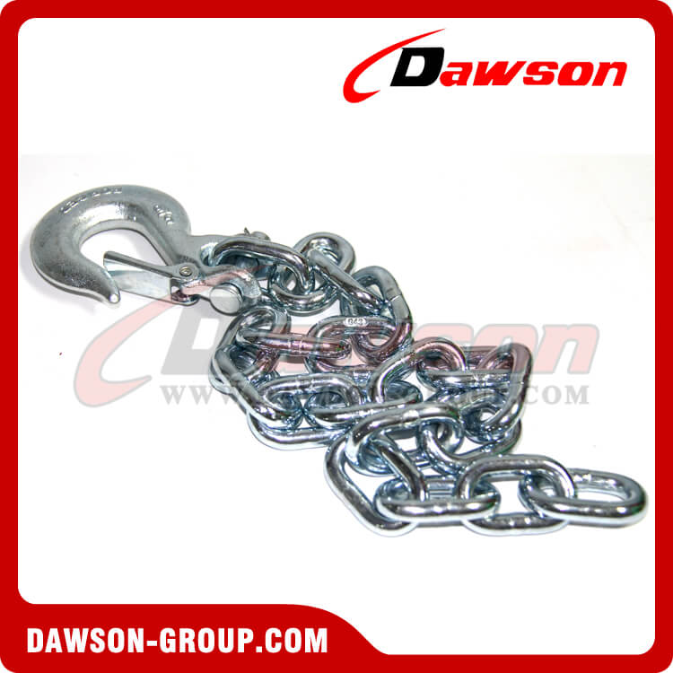 G43 Trailer Safety Chains Assembly with Slip Clevis Hook Latch
