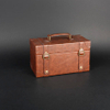 Wine Box Manufacturer Brown PU leather wooden wine cabinet